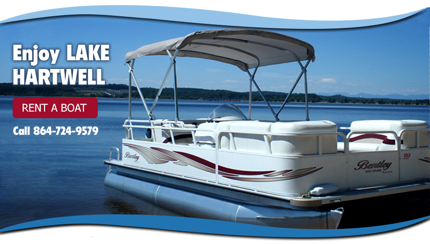 Pontoon Boat on Lake Hartwell